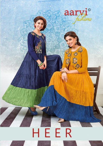 Arvi Heer Gown Kurtis with Jacket Wholesalers