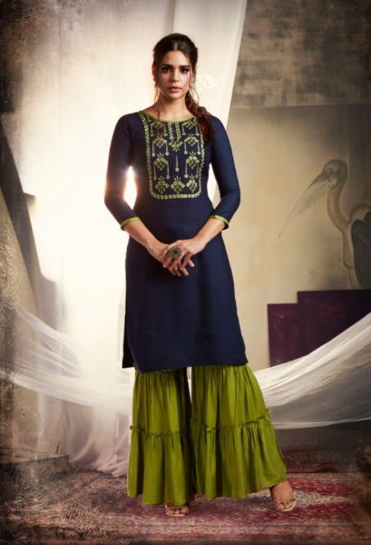 Khanak vol 3 Tops with Sharara Wholesaler