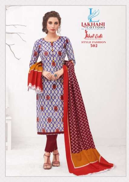 Lakhani Ikkat Cotton Print Salwar suits wholesalers
