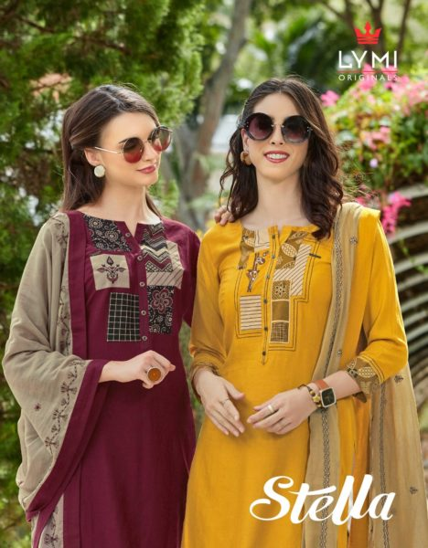 Lymi Stella Tops with Pants & Dupatta Wholesalers