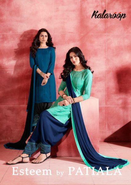 kajree Esteem patiyala rayon readymade salwar suit wholesaler