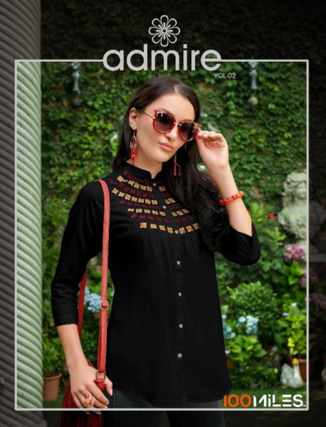 100 Miles Admire vol 2 Short Tops Kurtis wholesalers