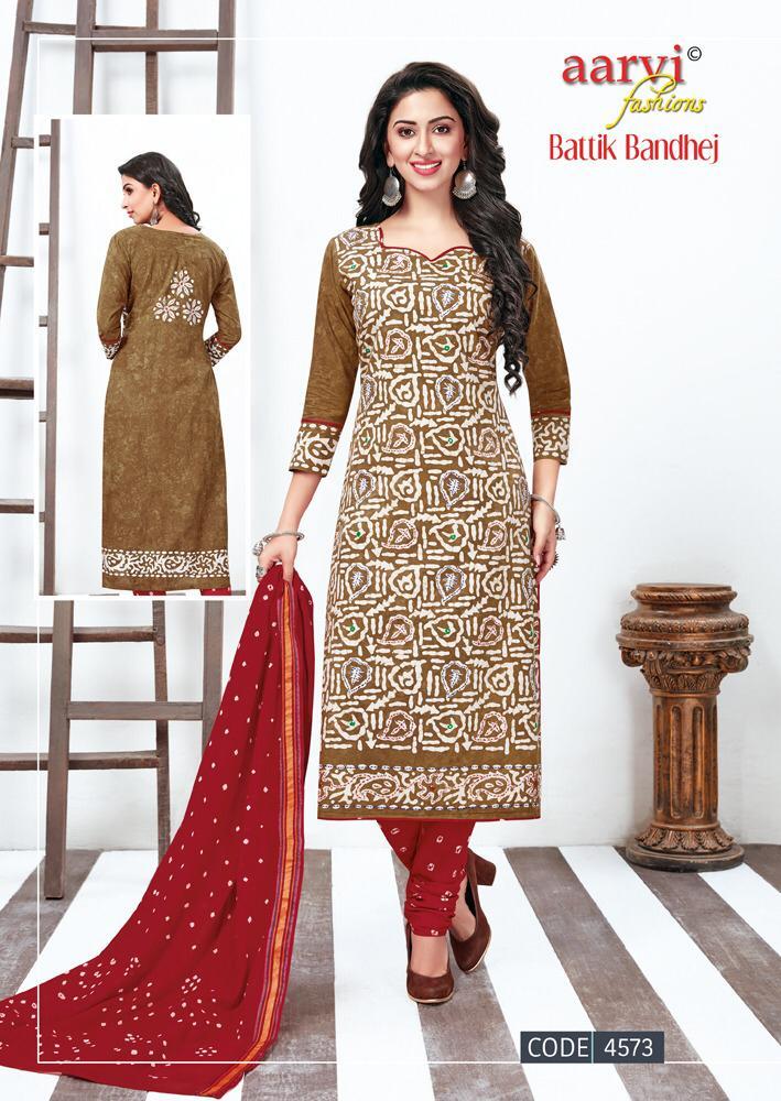 Aarvi Batik Bandhej vol 2 Cotton Salwar Suits wholesalers