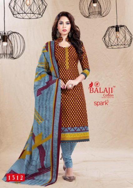 Balaji Spark vol 13 Cotton Dress Materials wholesalers