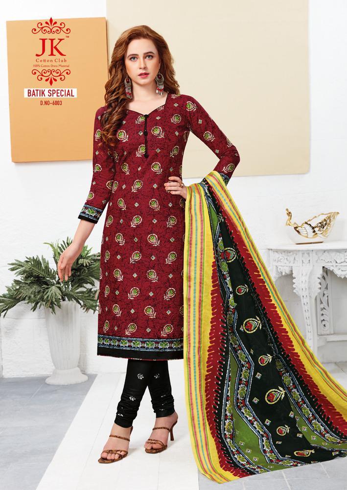 JK Batik Special Vol 6 Batik Print Cotton Dress Materials