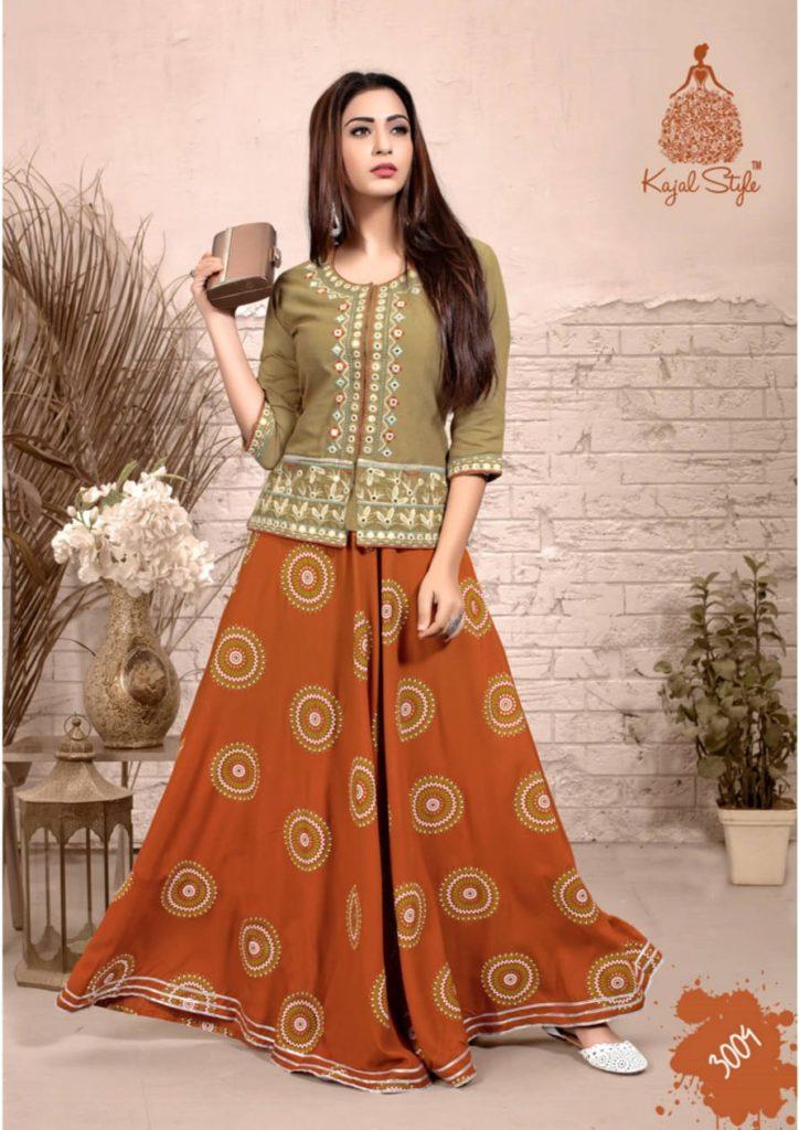 Kajal Fashion Label vol 3 Tops with Bottom Kurtis Wholesalers