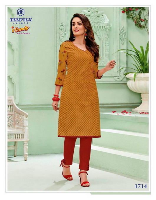 Deeptex I Candy vol 17 Low range Cotton Kurtis wholesalers