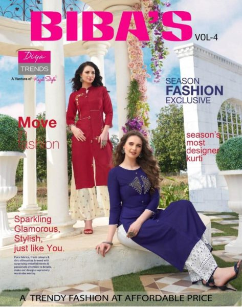 Diya Bibas vol 4 Kurtis & Bottom Wholesalers