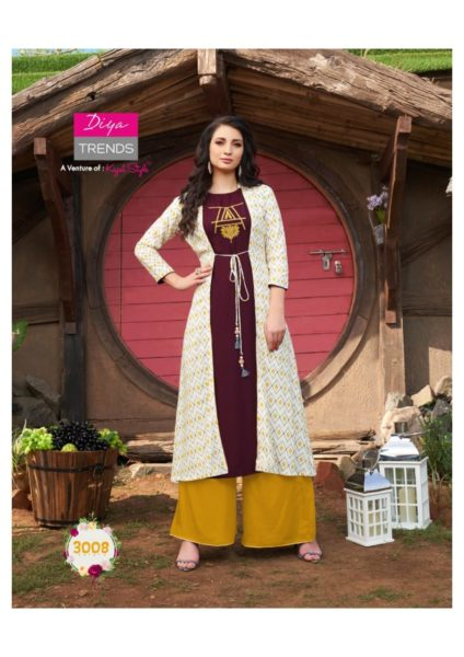 Diya Globus city vol 3 Kurtis with bottom & Shrugs Wholesalers