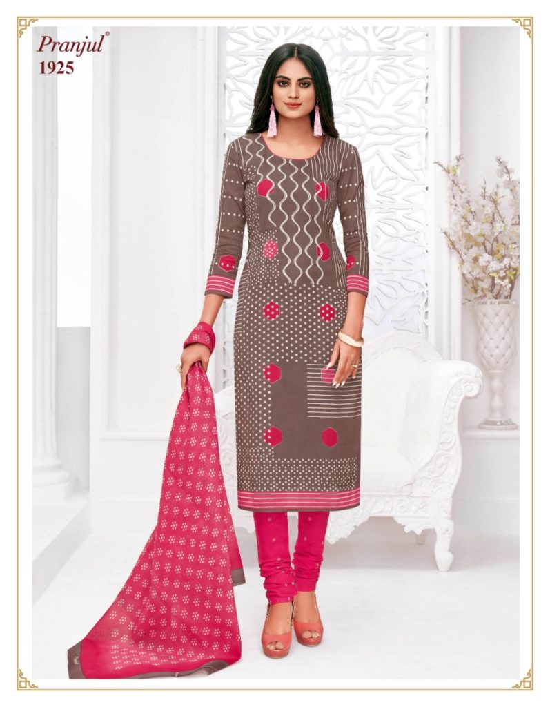 Pranjul priyanshi vol 19 cotton dress materials wholesaler