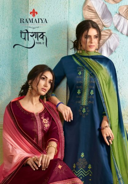 Ramaiya Poshak vol 2 Designer Dress Materials wholesalers