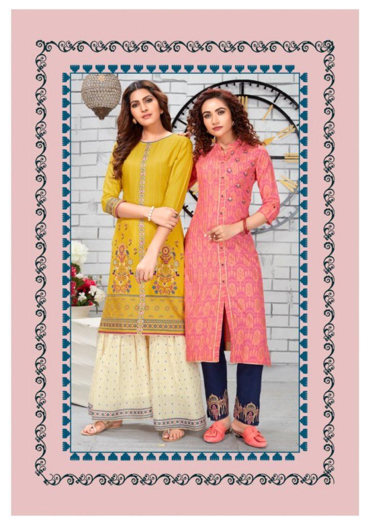 Kajal Fashion label vol 4 Top with Bottom Kurtis wholesaler