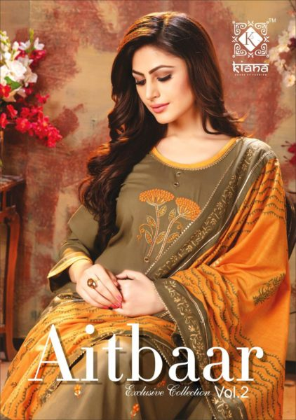 kiana Aitbaar vol 2 Ready made top palazzo with dupatta collection