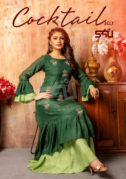 s4u Cocktail vol 3 Designer Kurtis Wholesalers