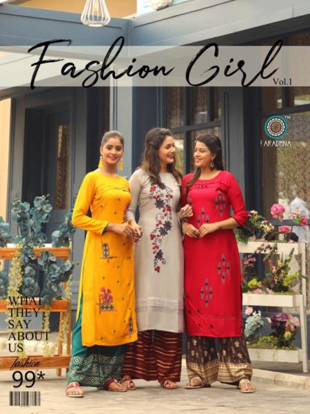 Aradhna Fashion Girl vol 1 Kurtis with Palazo wholesalers