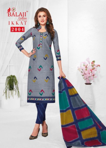 Balaji Ikkat vol 2 Cotton Print Dress Materials