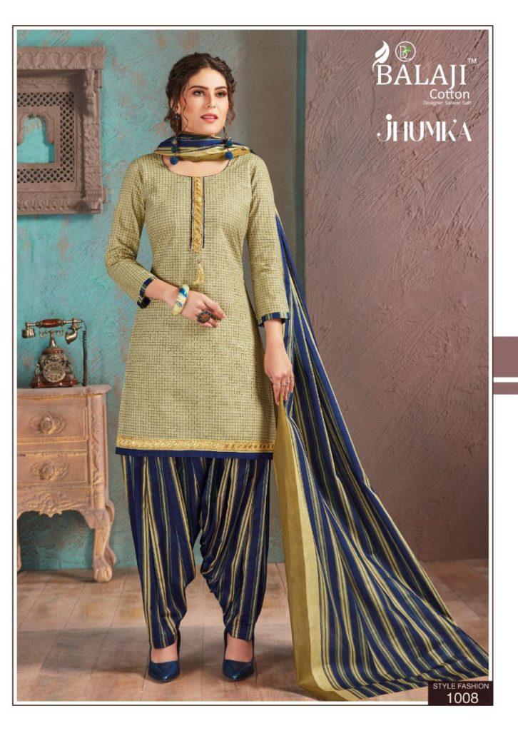 Balaji Jhumka vol 1 Cotton Patiyala Salwar Suits