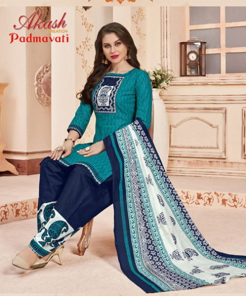 Aakash Padmavati vol 9 Cotton Print Salwar Suits Wholesaler
