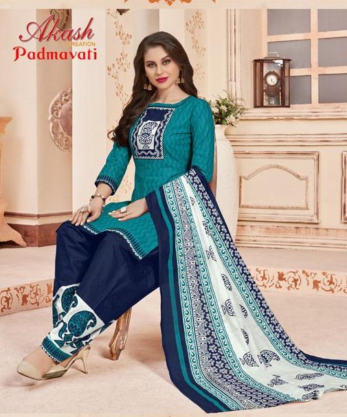 Aakash Padmavati vol 9 Cotton Print Salwar Suits Wholesaler