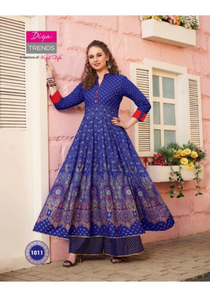 Diya Florence vol 1 Kurtis with bottom wholesalers