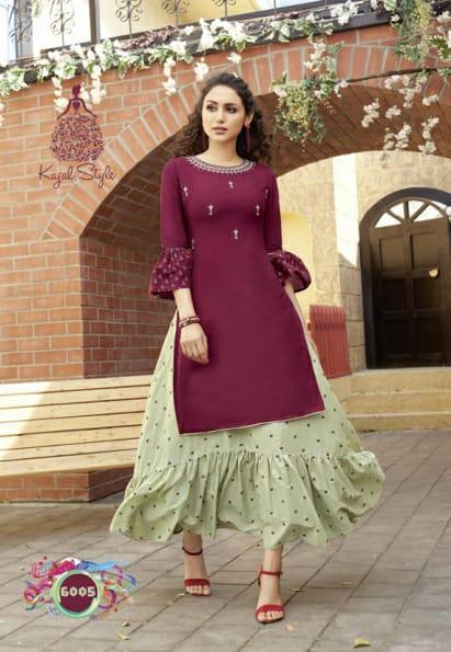 Kajal Style Fashion Season vol 6 Kurtis wholesalers
