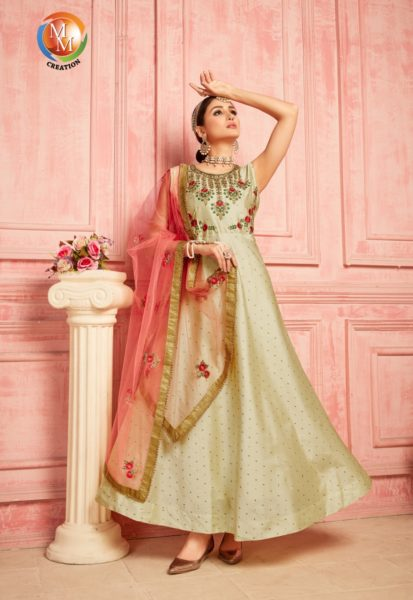 MM Chunri vol 3 Designer Silk Gown with Duppatta