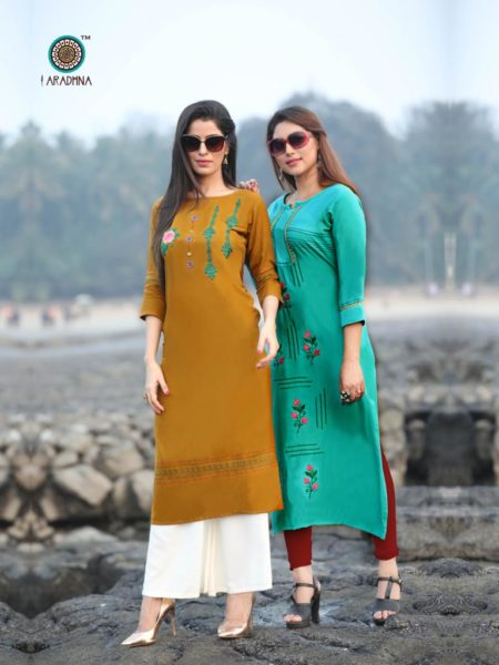 Aradhana Queen vol 2 Rayon Kurtis Wholesalers