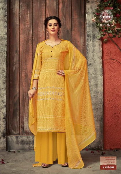 Ritika Karachi Dress Materials Wholesalers