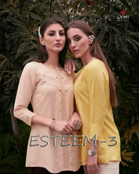 Esteem vol 3 Lymi Short Tops Kurtis wholesalers