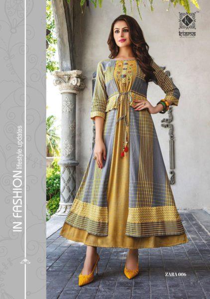Kiana Zara Gown Kurtis Wholesalers