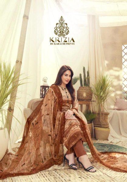 Krizia Karachi print Dress materials wholesaler