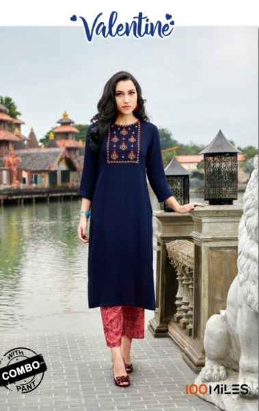 Valentine by 100 miles Kurtis with Pants wholesalers