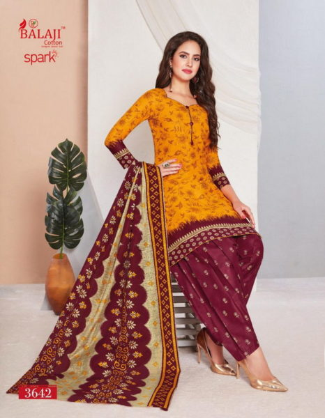 Balaji Spark vol 14 Cotton Dress Materials Wholesalers