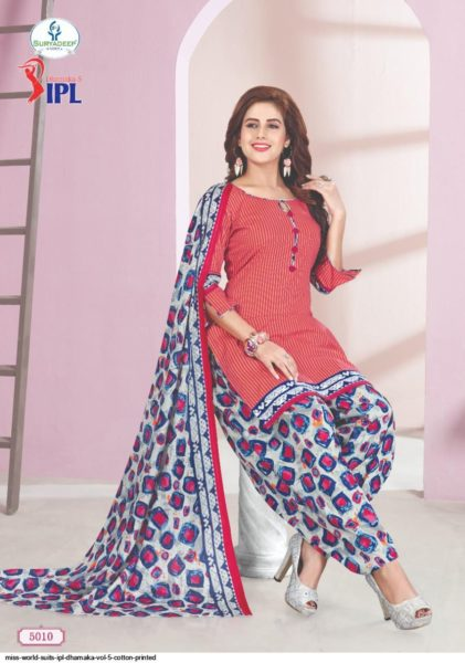 IPL Dhamaka vol 5 Cotton Print Dress Materials Wholesalers