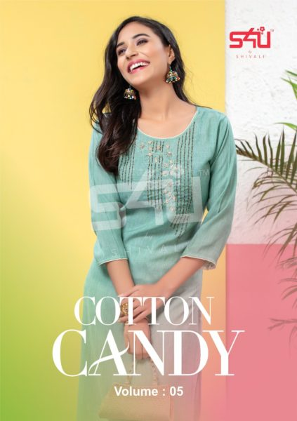S4U Cotton Candy vol 5 Designer Kurtis Wholesalers