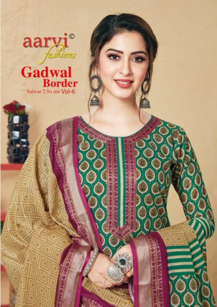 Aarvi Ghadwal Border vol 6 Dress Materials Wholesale