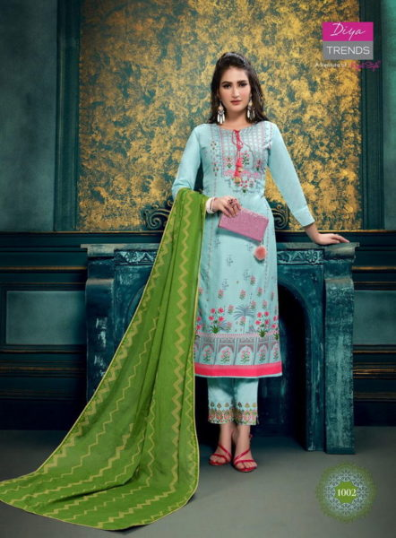 Diya Odhani vol 1 Kurtis with Pants & Dupatta