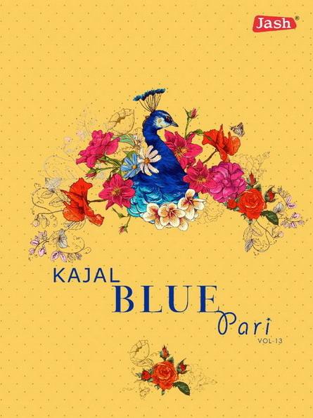 Jash Kajal Blue Pari vol 13 Dress Materials Wholesalers