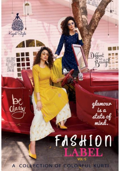 Kajal Fashion Label Vol 5 Top With Bottom Kurtis Wholesaler