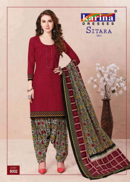 Karina Sitara vol 8 Dress Materials Wholesaler