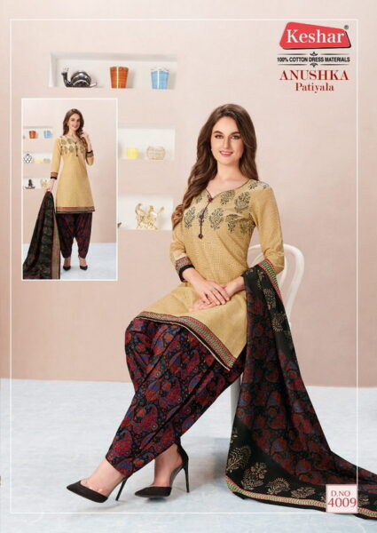 Keshar Anushka patiyala vol 4 dress materials wholesaler