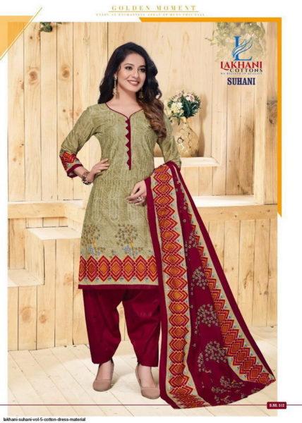 Lakhani Suhani vol 5 Cotton Dress Materials Wholesaler