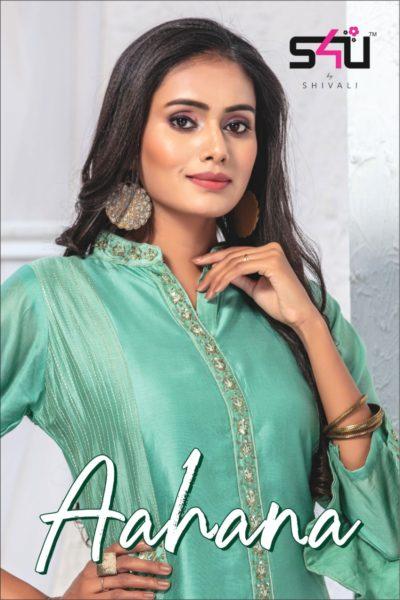 S4U Shivali Aahana Silk Kurtis wholesalers