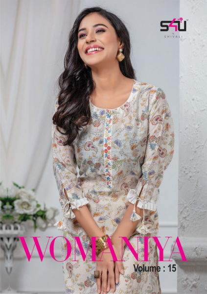 s4u womaniya vol 15 silk fancy Kurtis wholesalers