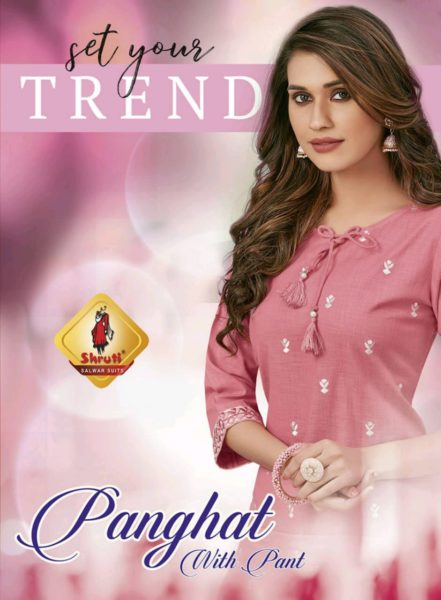 Shruti panghat Kurtis with pants wholesalers