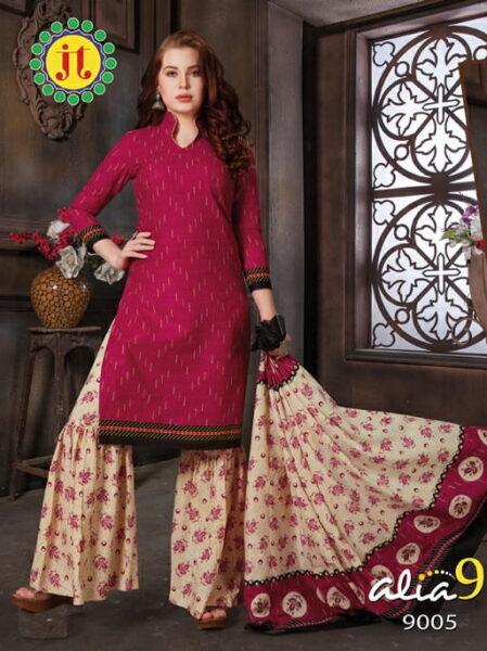 JT Alia vol 9 Cotton Salwar suits wholesalers