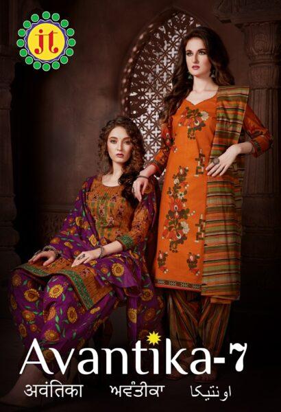 JT Avantika vol 7 Cotton Print Dress Materials