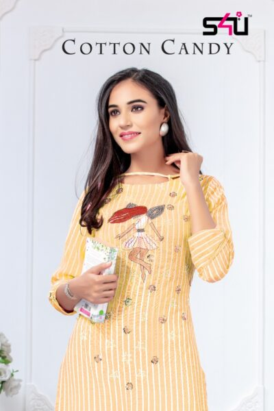 S4U Cotton Candy Ethenic Kurtis wholesalers