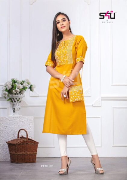 S4U Fyre Formal Kurtis wholesalers