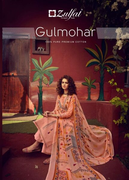 Zulfat Gulmohar Karachi print Dress Materials Wholesaler